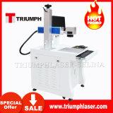 frame dos vidros 10With20W/Desktop do metal/fio/preço portátil/mini da máquina da marcação do laser da fibra óptica para a venda