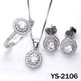 De juwelen plaatsten 925 de Zilveren Juwelen van de Overeenkomst van CZ van het Kostuum
