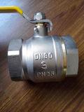 3-4 válvula de esfera de bronze do controle da polegada com punho do ferro (YD-1021-2)