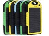 CER RoHS FCC wasserdichtes Solarpowerbank 5000mAh befestigt für Samsung Fahrwerk HTC