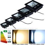100W la PANNOCCHIA esterna impermeabile 9500lm degli indicatori luminosi dell'indicatore luminoso di inondazione della lampada 85-265AC LED sostituisce il proiettore equivalente di caso di nerofumo della lampada alogena