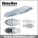 80W Middle Shark Fin는 LED Streetlight Housing를 정지한다 Casting