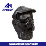 목을%s 가진 굵은 활자 Airsoft 보호 안경 메시 가면은 보호한다
