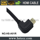 Rechtwinkliges HDMI Hochgeschwindigkeitskabel V2.0 V1.4 mit Ethernet
