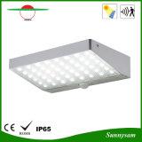 luz impermeable de la pared de la calle al aire libre de la lámpara de la seguridad del jardín de la luz del sensor de movimiento de la luz de calle de la energía solar de 4W 600lm 48 LED PIR