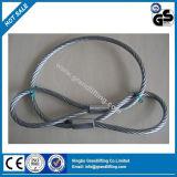 Estilingue de levantamento da corda de fio da construção de laço do cabo