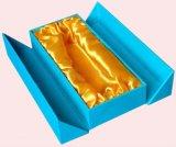 Rectángulo de regalo de la cartulina del papel hecho a mano de la alta calidad