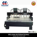 Máquina de gravura de madeira de madeira da máquina do Woodworking do router do CNC da Multi-Cabeça