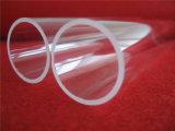 Pipa del cuarzo del tubo de cristal de cuarzo transparente del diámetro grande