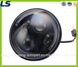 Rundes Hauptlicht des Hamburger-7 des Zoll-LED mit Ring für JeepWrangler
