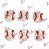 Fans Bracelet Gift (SC111)のための卸し売りAlloy Metal Sports Ball Beads Slide Charms