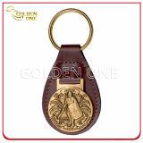 يشخّص جلد مفتاح [فوب] مع أثر قديم نحاس أصفر معدن يزيّن شعار