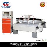 Máquina de gravura do CNC do eixo do movimento 4 da tabela da elevada precisão (VCT-1513TM-4H)