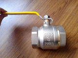 3-4 soupape en laiton de la boule roulante de pouce avec le traitement de fer (YD-1021-2)