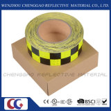 Лента дневной и черной Checkered слипчивой отражательной безопасности предупреждающий (C3500-G)