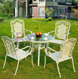 Im FreienBalcony Five-Piece Coffee Table und Chair Rattan Furniture