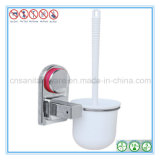 De muur Opgezette Schoonmakende Borstel van het Toilet van de Kop Suctionn met Houder