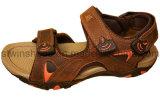 Sandálias ocasionais do couro de borracha novo do homem de Outsole