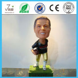 Custom 6.3 '' Rubgy Player Résine Bobble Head, Bobble Head Figurine