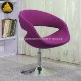 회전하는 사무실 디자이너 의자를 덮개를 씌우십시오