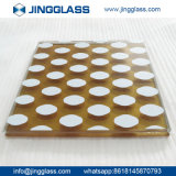 Vidrio de frita de cerámica Tempered de Corlored de la seguridad de la construcción de edificios