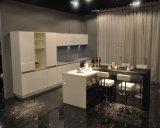 プロジェクトのホーム使用(ドイツ機械)のための光沢度の高く純粋で白いラッカー終わりの食器棚