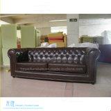 Sofá de madeira do couro do frame da sala de visitas moderna (HW-1606-1S)