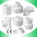 Encaixes de cotovelo masculinos fêmeas rosqueados BS da tubulação do PVC da fonte de água dos encaixes do PVC
