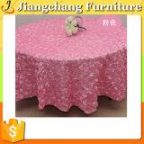 Tabella del PVC che Wedding il panno variopinto della Tabella del quadrato del fiore della Rosa (JC-ZB1606)