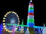 Het Licht van het kleurrijke LEIDENE van de Partij van de Vakantie Gordijn van het Koord voor Licht toont
