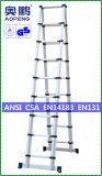 Telescopische Ladder van het Aluminium van de Uitbreiding van de Kruk van de Stap van het Huishouden van het staal de Uiteindelijke (ap-509-400)