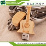 De houten Aandrijving van de Pen van de Aandrijving van de Aandrijving USB van de Flits van de Gitaar USB voor Promation