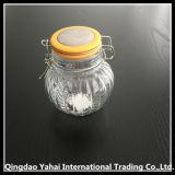 [280مل] مستديرة زجاجيّة تخزين مرطبان مع مشبك غطاء