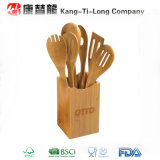 Jogo de bambu do utensílio da cozinha