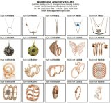 2015 al por mayor de joyería de plata Mujeres Rose Glod plateó el anillo R10580