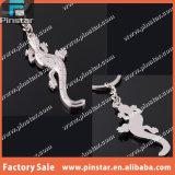 Fabricante de imitación animal del sostenedor de la llave del Gecko del Keyring del coche de metal en China