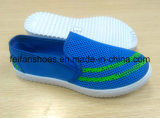 Schoenen van de Schoenen van het Canvas van de Injectie van mensen de Toevallige Openlucht met pvc Outsole