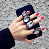 Silicone antirresbaladizo Diomand Ring Phone Caso para el iPhone 5/6/6plus