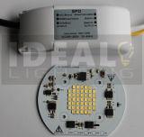 Final ultrafino del negro de la CA Epistar LED del reflector 30W del LED
