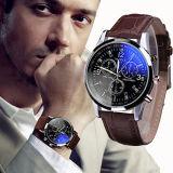 Relógios de couro de quartzo dos homens do falso luxuoso novo esplêndido da forma
