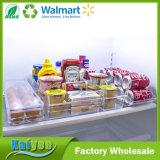 Compartimientos del refrigerador y organizador amontonables claros del almacenaje del cajón del congelador