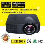 Portable casero video barato LED del OEM mini proyector de 1500 lúmenes