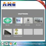 プログラム可能な集積回路が付いている識別NFCステッカーの札