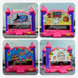 Federnd House mit Changeable Art Panel, Inflatbale Playhouse mit Slide