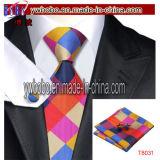 Jeux rouges en soie de relation étroite de boutons de manchette de mouchoir de relation étroite de cravates de jeux de relation étroite noire de relations étroites de Mens (T8031)