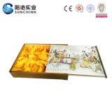 Chinesische traditionelle weibliches Zeichen-hölzerne Mond-Tortenschachtel (SCMC00001)