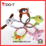 Brinquedo do animal de estimação do brinquedo do cão da râ do luxuoso com corda durável