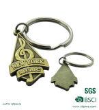 Le catene chiave del metallo del pettine su ordinazione dello spazio in bianco con incidono il marchio (xd-031736)