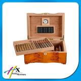 담배 저장 상자와 쟁반을%s 가진 호화스러운 나무로 되는 시가 박스
