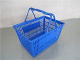 Panier à provisions en plastique rouge amical d'Eco Hdpp